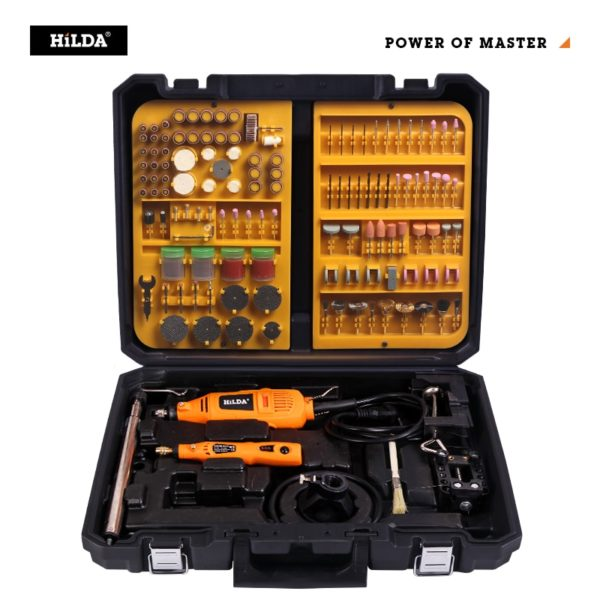 HILDA Electric Drill Grinder Engraving Pen Grinder Double Mini Drill Electric Rotary Tool Grinding Machine For Dremel Accessorie